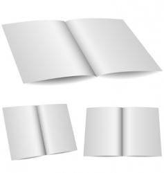 blank opened folder vector image vector image
