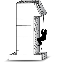 climbing for success vector image