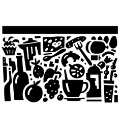 food and drink - vector image vector image