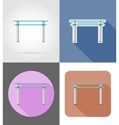 furniture flat icons 33 vector image vector image