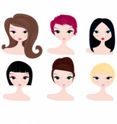 hairstyles for women vector image vector image