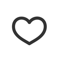 heart icon outline vector image vector image