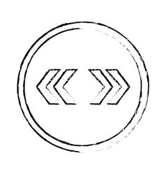 Left right arrows vector
