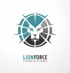 Lion head creative logo design vector image vector image