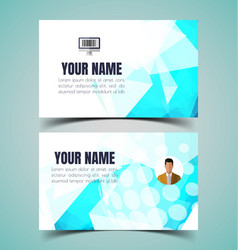 name card template9 vector image vector image