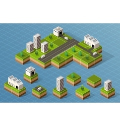 Set of isometric city vector image