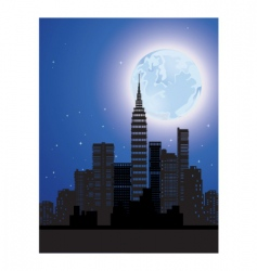 night city vector image vector image