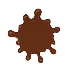 chocolate splash blot vector image