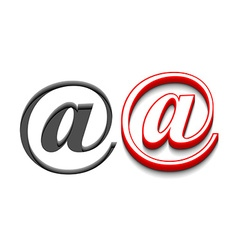 email sign design vector image