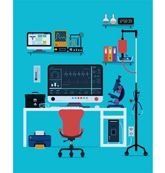 medical instruments vector image