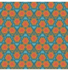 orange wave textile squiggles seamless pattern vector image