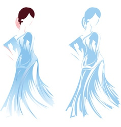 Romantic Girl Sketch vector image vector image