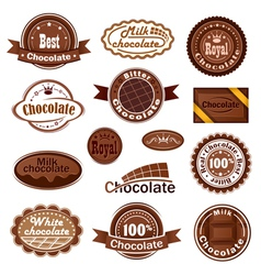Set of chocolate badges vector image vector image