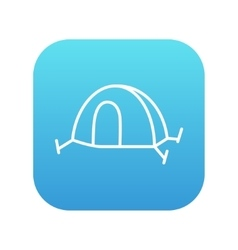 Tent line icon vector image