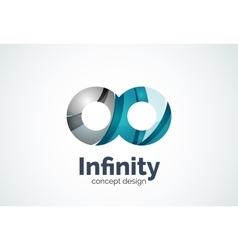 Abstract business company infinity logo template vector