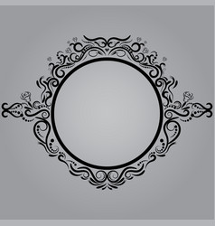 decorative frame retro frame on gray vector image