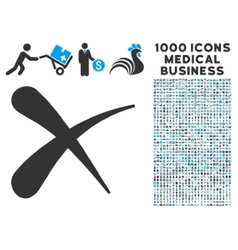 Erase Icon with 1000 Medical Business Symbols vector image