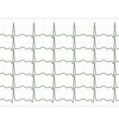 heart cardiogram eps 8 vector image vector image
