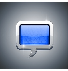 metallic speech bubble vector image vector image