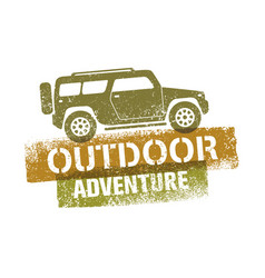 off road outdoor adventure vector image vector image