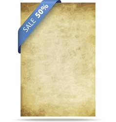 old paper background with strip vector image vector image