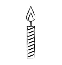 Sketch draw birthday candle vector