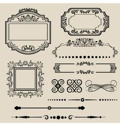 vintage borders vector image