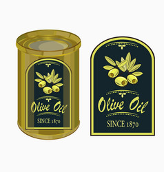 a label of olive oil vector image