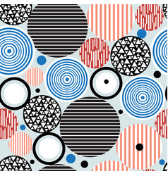 abstract geometric pattern circles vector image