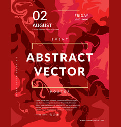 abstract painting poster template vector image
