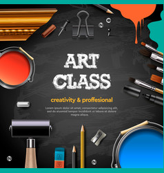 art class studio course school education banner vector image