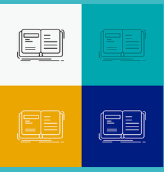 Author book open story storytelling icon over vector