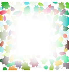 Autumn multicolor Leaves frame template vector image