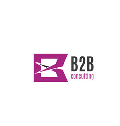 b2b business consulting letter b icon vector image