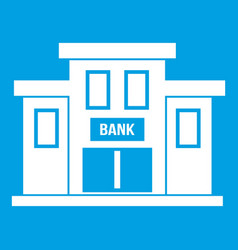 Bank building icon white vector