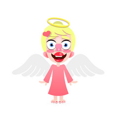 beautiful cute little angel with a smile on his vector image