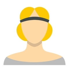 Blonde woman medieval icon flat style vector