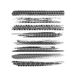 Brushed tire tracks vector