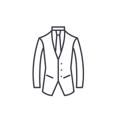 business suit line icon concept business suit vector image