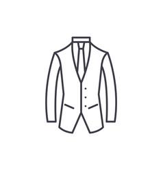 business suit line icon concept business suit vector image