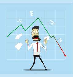 Businessman in panic vector