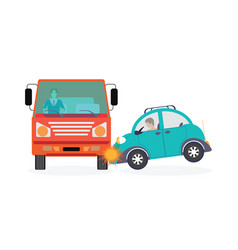 Car crash accident car vector