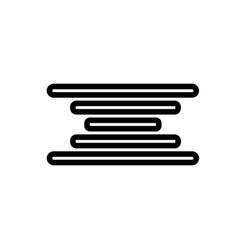 Center align icon vector