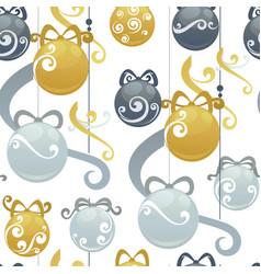 christmas balls holiday decoration seamless vector image