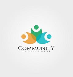 Community logo designrelationship icon vector