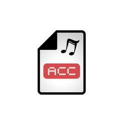 Computer acc file icon vector