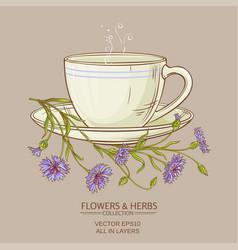 cup of corn flower tea vector image