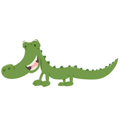 Cute crocodile animal character vector