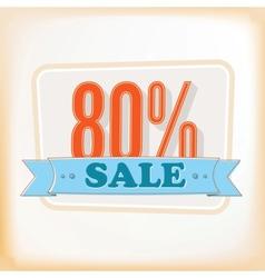 Discount labels 80 vector image