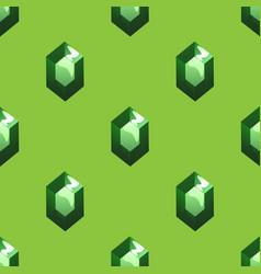 Emerald seamless pattern vector